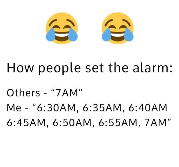 Set an alarm like this: