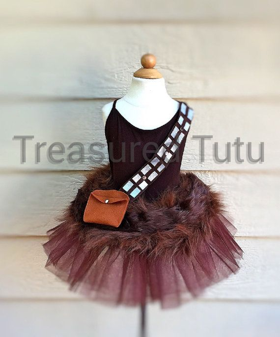 Girls Chewbacca Inspired Tutu Top and Headband by TreasuredTutu