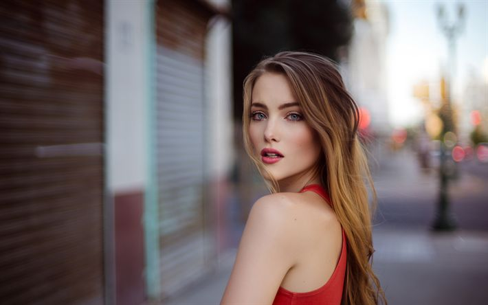 Download wallpapers 4k, April Alley, photomodels, beauty, blonde, beautiful girls