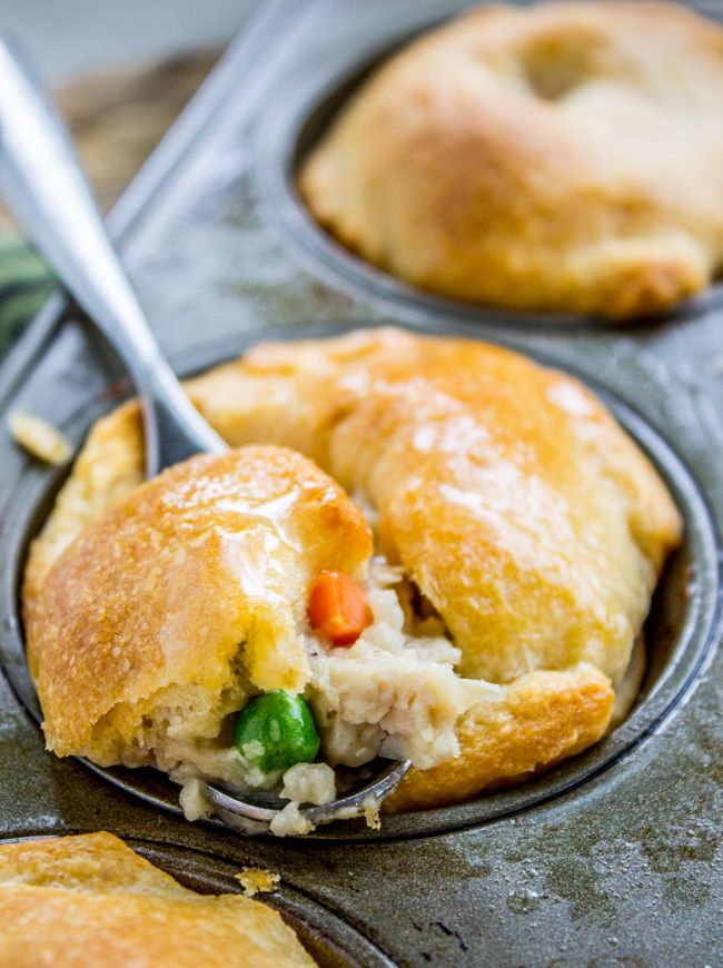 Mini Chicken Pot Pies (Quick and Easy!)