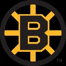 Boston Bruins logo (1949–1995). Primary logo, used on white jersey.