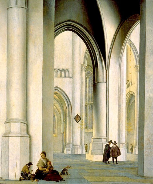 Interior Of The St Bavo Church, Haarlem, by Pieter Jansz Saenredam, 1636