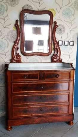 Komoda z lustrem w stylu Ludwika Filipa, Francja Chojnów - image 1
