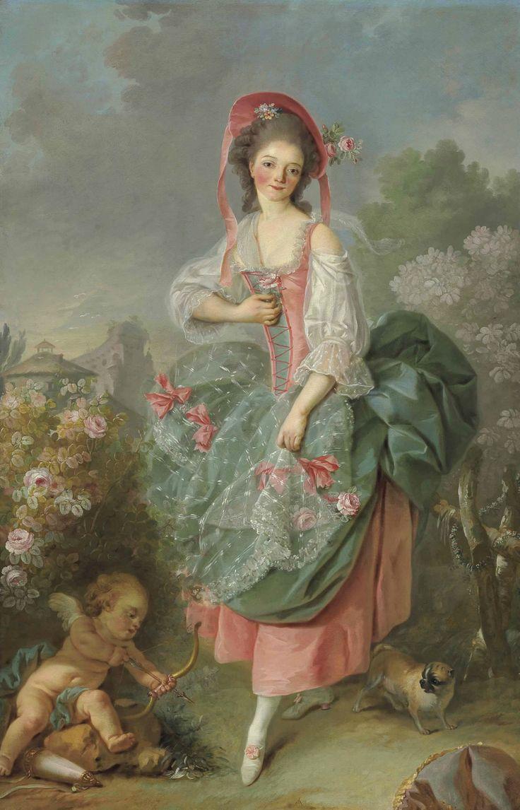 Jacques-Louis David (1748 - 1825) - Portrait of Mademoiselle Guimard as Terpsichore