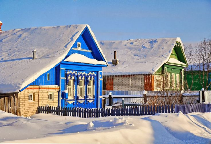 ABC Russian: Russian village in winter. Photos.