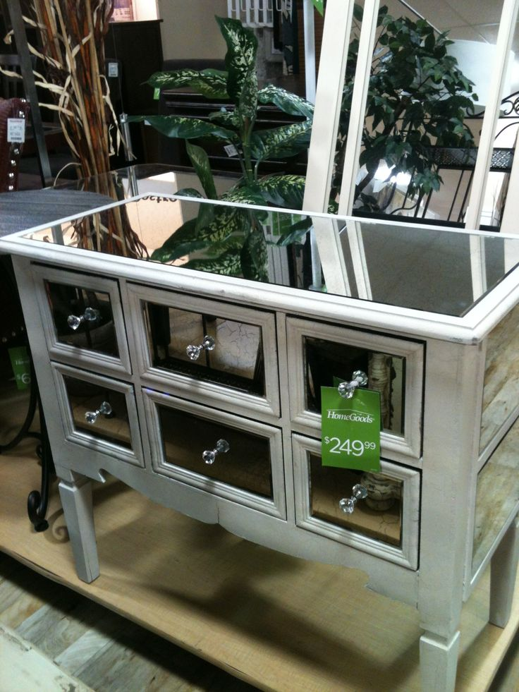 Mirrored End Table Master Nightstand Marshalls