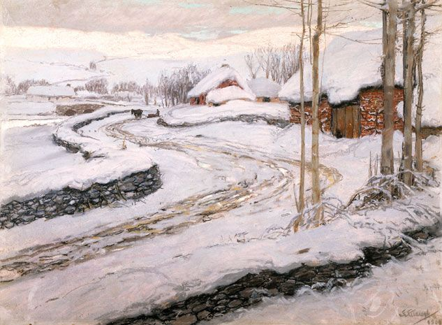 'Snowdrifts' by Frederick Waugh, 1904. This pastel painting from the Walker Art Gallery's collection is available as an e-card: http://www.liverpoolmuseums.org.uk/ecards/write-card.aspx?card=159719&set=5439