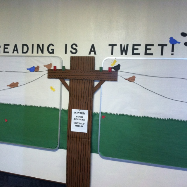 Reading is a Tweet! AR reading incentive board