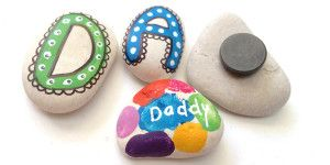 Make Dad Pebble Fridge Magnets