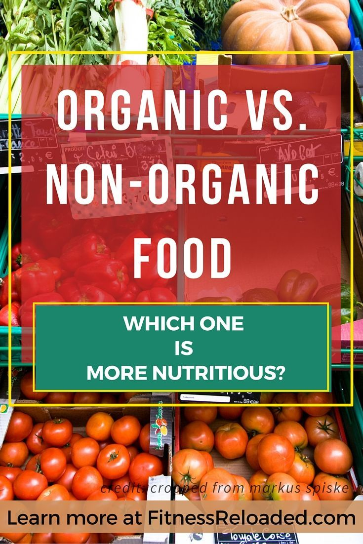 Organic Vs. Non-Organic Food: Which One Is More Nutritious? Organic vs. non-organic food: One of them is hyped, the other one is not. | http://fitnessreloaded.com