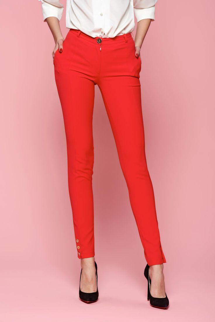 Comanda online, Pantaloni LaDonna Classic Style Red. Articole masurate, calitate garantata!