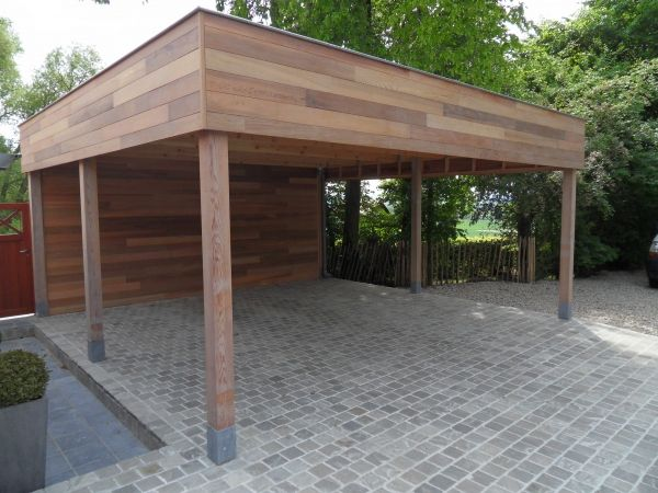 carport idea. Make this tall enough for ladders, kayaks, and such.