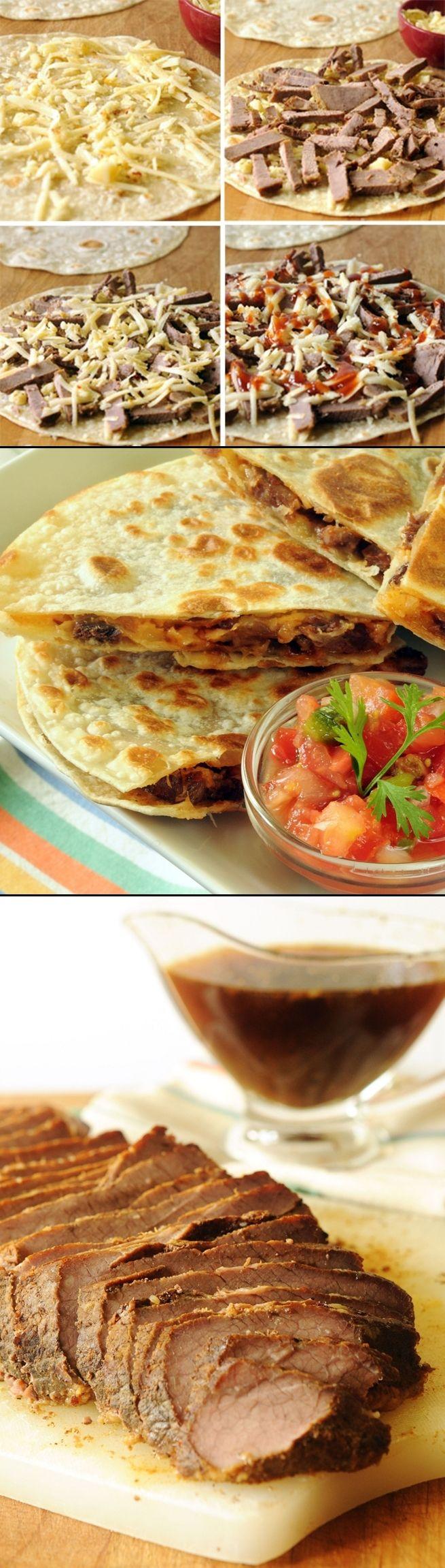 Brisket and Pepper Jack Quesadillas - Top 10 Food Recipes