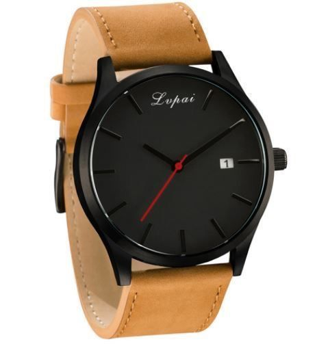 Lvpai Watch with Leather Strap | The Urban Upgrade | minimalist watches | simple watches | watches with the date | minimalism watches | big large face watches | leather watches | best watches | 2017 watches | 2018 watches | cheap watches | affordable watches | the best watches for under $30 $40 $50 $100 | watches with free shipping | men's fashion | women's fashion | men's watches | women's watches | big watches