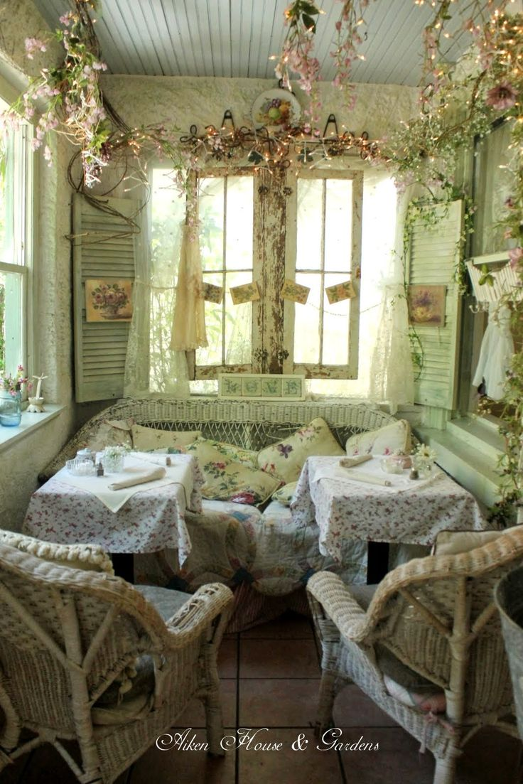 Aiken House & Gardens: Shabby Chic Romantic Tea Room blog. The Garden Gate Tearoom in Dora, Florida