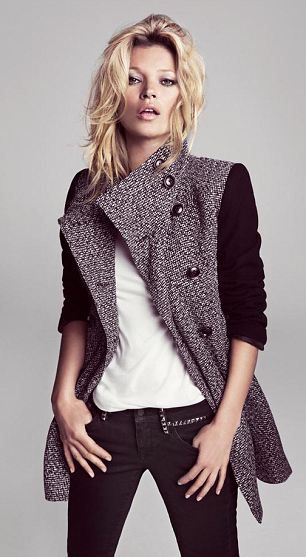 Smart, sharp and seriously sexy: Kate Moss models Mango's new autumn collection | Mail Online