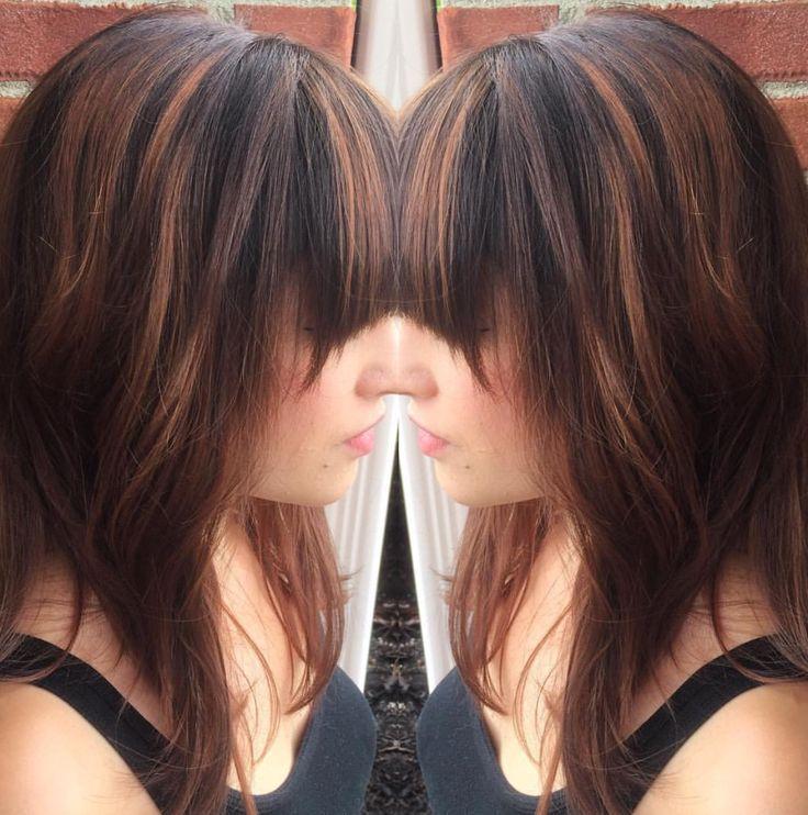 Warmer tones are key! Fall hair Balayage  Hazelnut highlights Carmel highlights Chestnut highlights Brittany@charlespenzone