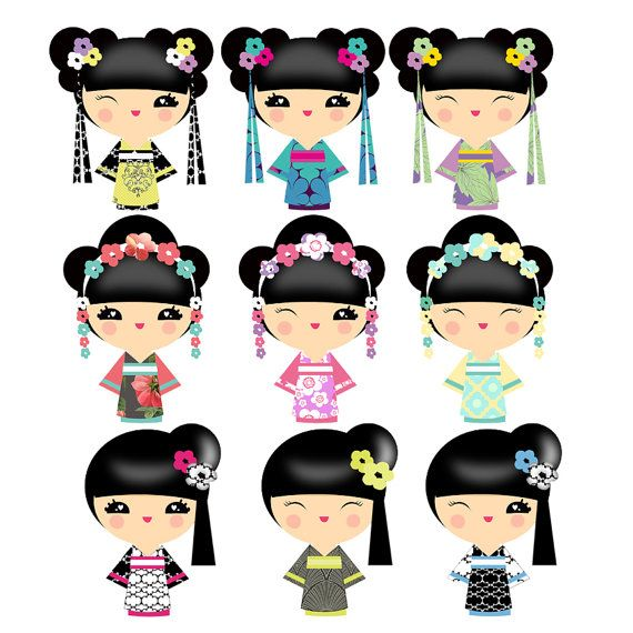 clipart Kokeshi on Pinterest | Kokeshi Dolls, Clip Art and ...