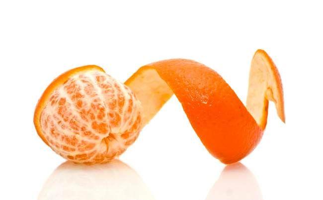 Tratamientos estéticos con cáscara de mandarina