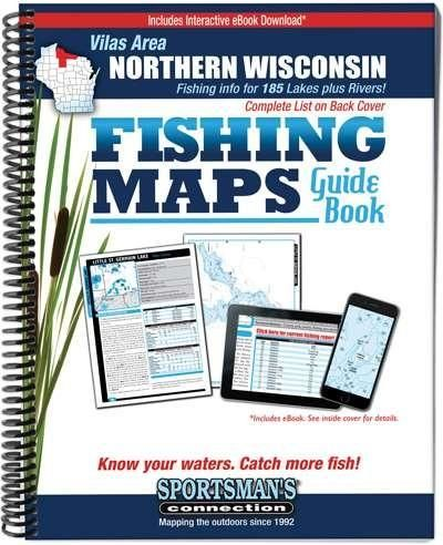 Vilas Area - Northern Wisconsin Fishing Maps Guide Book