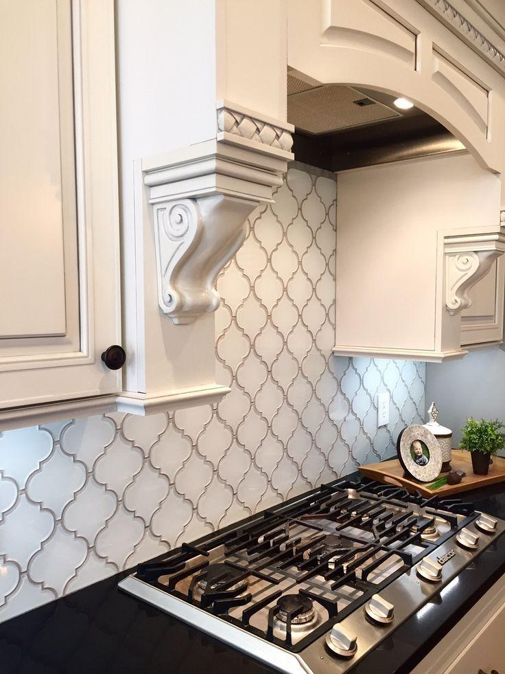 Arabesque Tile Backsplash Picture