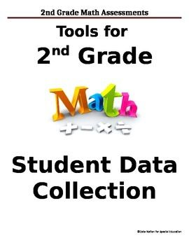 2nd Grade Math Common Core Data Sheets And Graphs. Special Education TeacherFormal  Assessment2nd ...