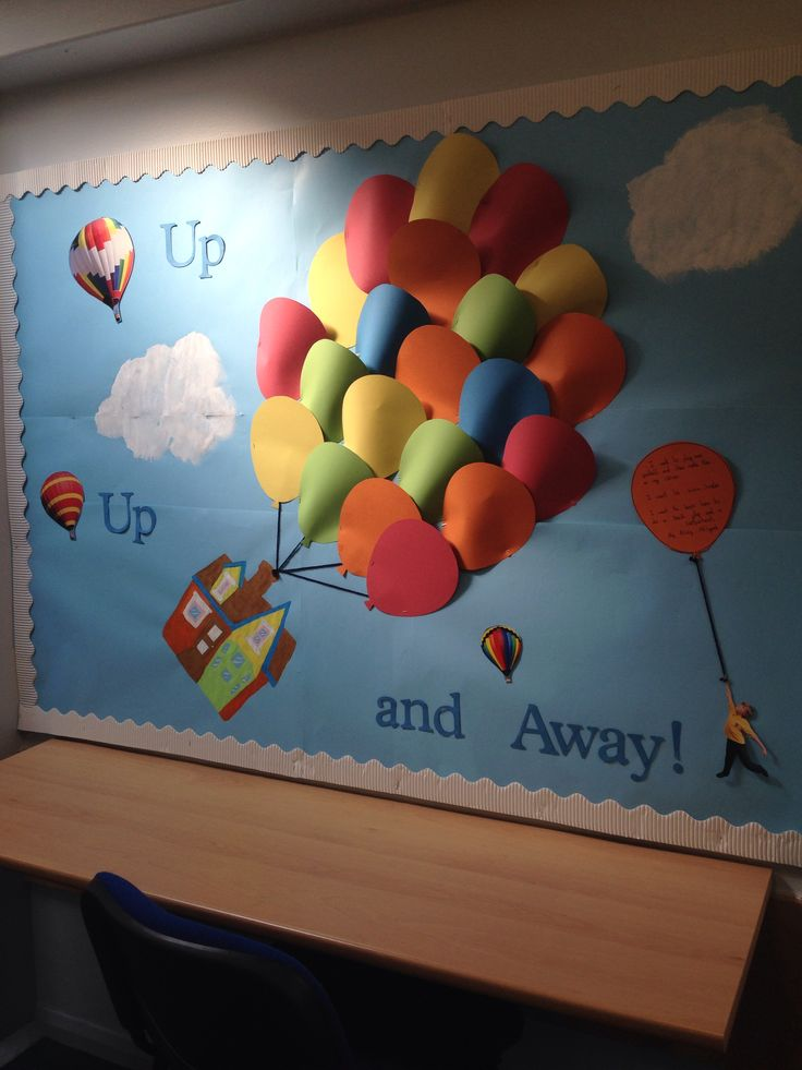 'Up, Up and Away' Classroom Display