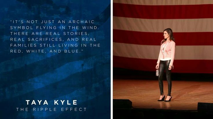 """Not just an archaic symbol! Taya Kyle, widow of """"American Sniper"""" Chris Kyle, on The Patriot Tour."""