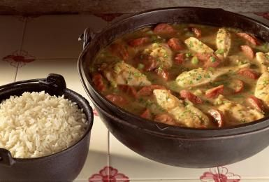Crock Pot Chicken, Sausage, and Shrimp Gumbo: Chicken Sausage Gumbo