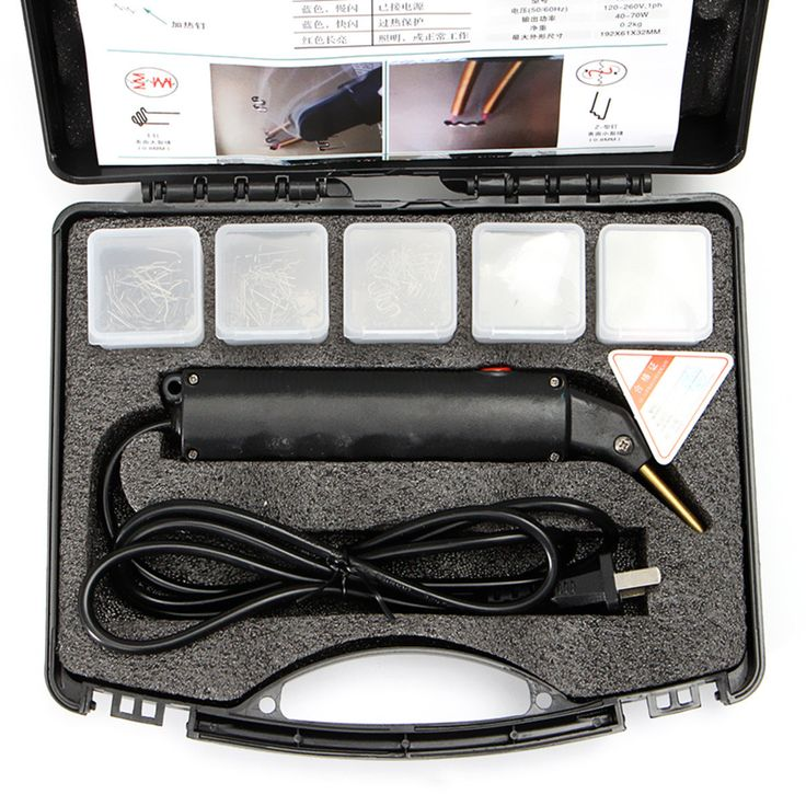 220V Stapler Bumper Plastic Welding Torch Kit Torch For Car Auto Repair
