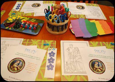 Our Lady of Mount Carmel Little Flowers Girls' Club:  LOTS of LF ideas here!