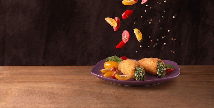 Roll de pollo relleno con espinaca y Finlandia Champignon y Jamón La Serenísima