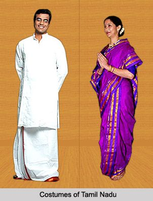 ea4fa9bc233 Costumes of Tamil Nadu - Men of this state put on a Dhoti or Lungi with a  shirt and Angavastra. Women traditionally drape themselves in a sari…