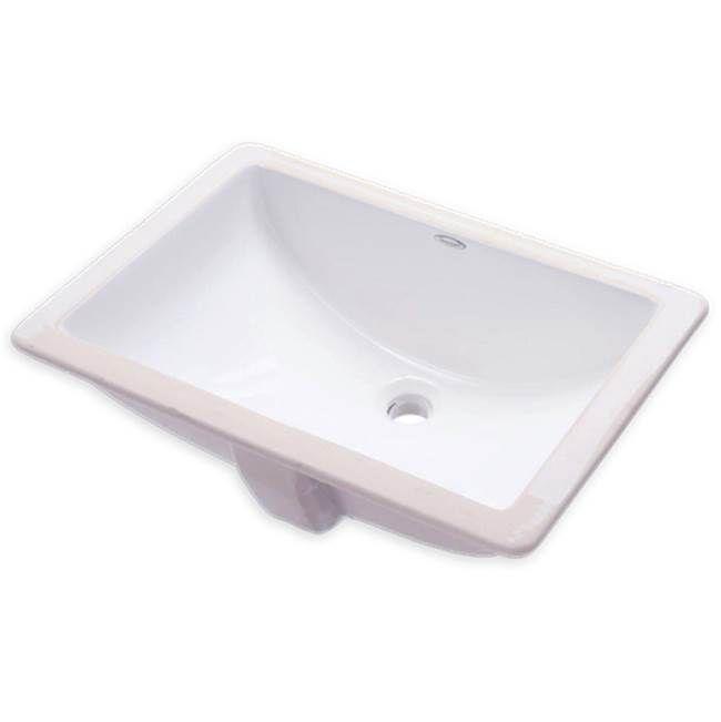 Central Arizona Supply American Standard 0614000 020 Studio Undermount Lavatory 18 X 12 Wht Undermount Bathroom Sink Sink Undercounter Sink
