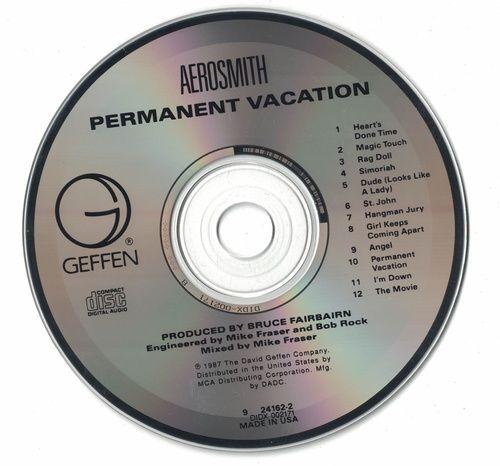 Aerosmith Permanent Vacation 1987 CD Professionally Cleaned