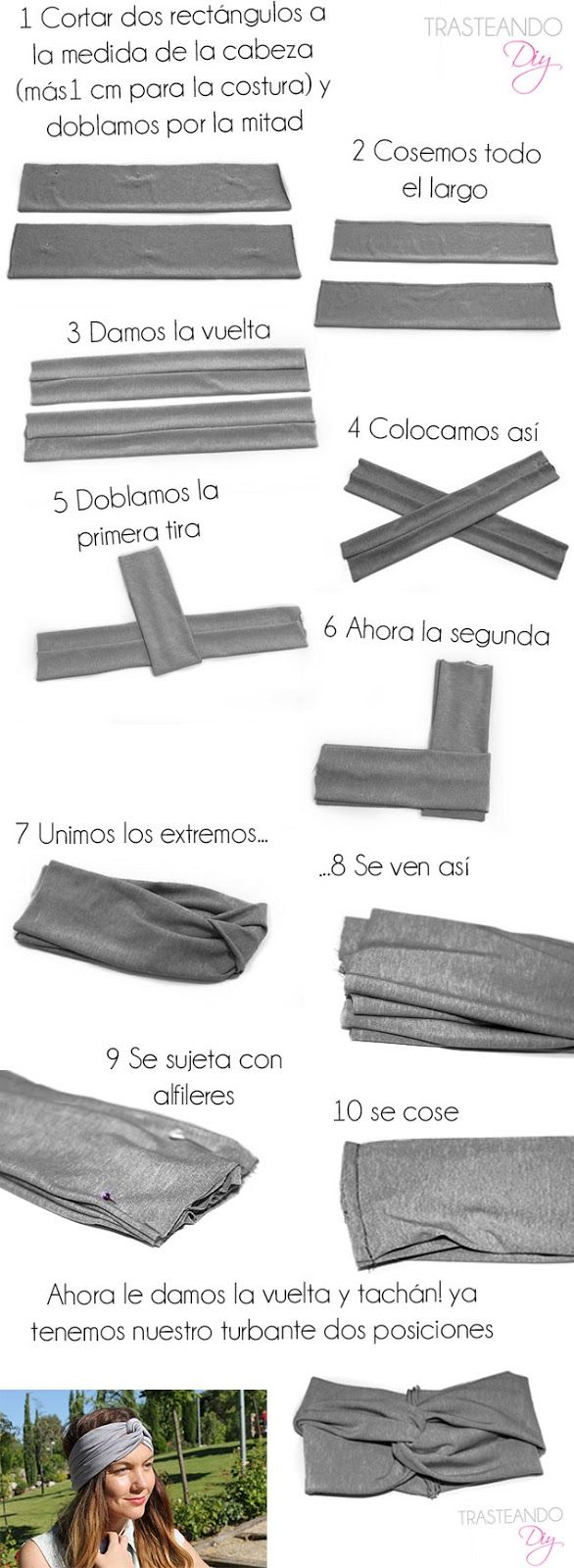 DIY...TURBANTE 2 EN 1 - Handbox | Craft Lovers