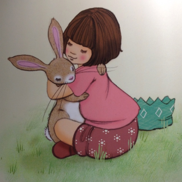 Saw this at London Book Fair, think its by illustrators Belle and Boo, guess they must have signed a book deal- v sweet