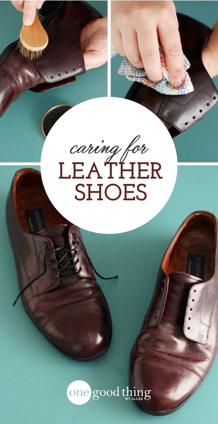 How to Clean Leather Shoes ~ One Good Thing