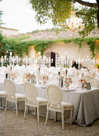 Pure romance: http://www.stylemepretty.com/destination-weddings/2015/01/05/black-tie-french-chateau-wedding/ | Photography: Christina Brosnan - http://www.brosnanphotographic.com/