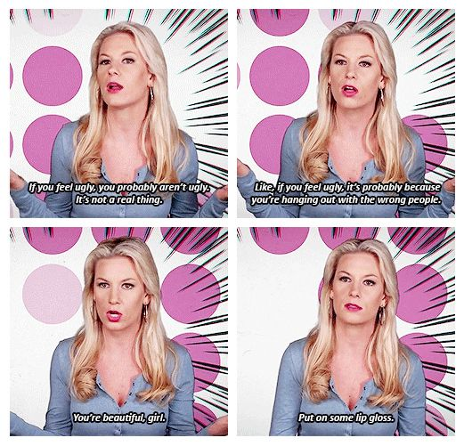 """On feeling ugly: 
