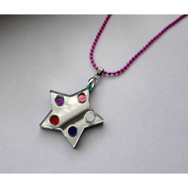 Crystal Temple's Star Steven Universe Necklace ($19) ❤ liked on Polyvore featuring jewelry, necklaces, star necklace, star jewelry, crystal stone jewelry, crystal jewellery and crystal jewelry