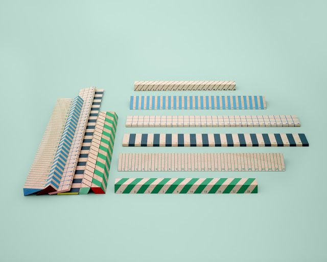 The ordinary done pretty: Wooden rulers by HAY