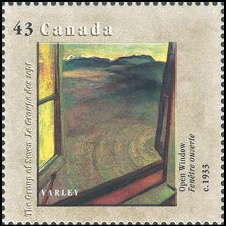 Canada 1995. Group of Seven. Realism/Naturalism. Frederick H. Varley.Open Window.