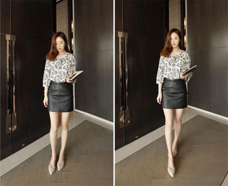 Top Quality High Waist PU Leather Skirt