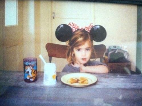 Awwww its baby emma watson with mickey mouse ears :)