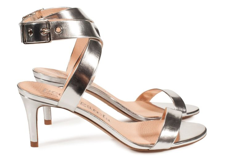 Pedro García style: Queen / wraparound sandal in silver specchio I Pedro García shoes I Spring-Summer 2016 I Made in Spain
