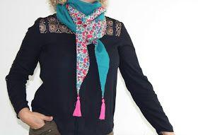 Mimousk: ★ Tuto Couture facile // Foulard triangle