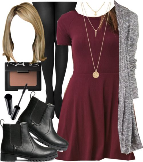 Edgy Hanna Marin inspired outfit with requested dress por liarsstyle usando nars cosmetics