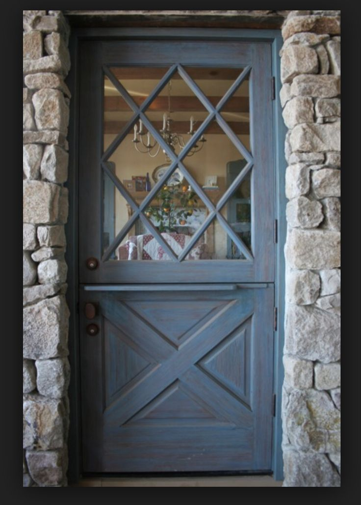 Colors For Front Doors: Diamond Pattern Glass Dutch Door.. My Favorite!