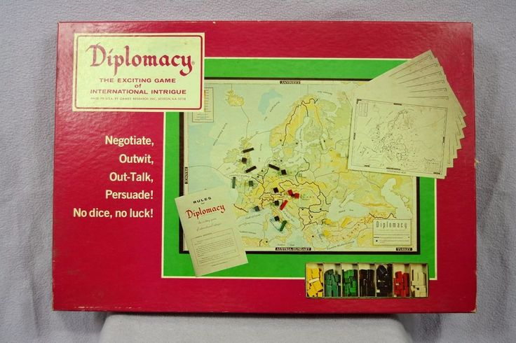 1976 COMPLETE Diplomacy Board Game by Games Research #GamesResearch